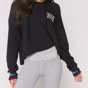 Spiritual Gangster Lets Be Cropped Hoodie
